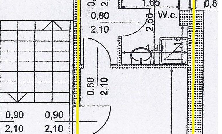 planimetria via costa bilocale tipo 2 up